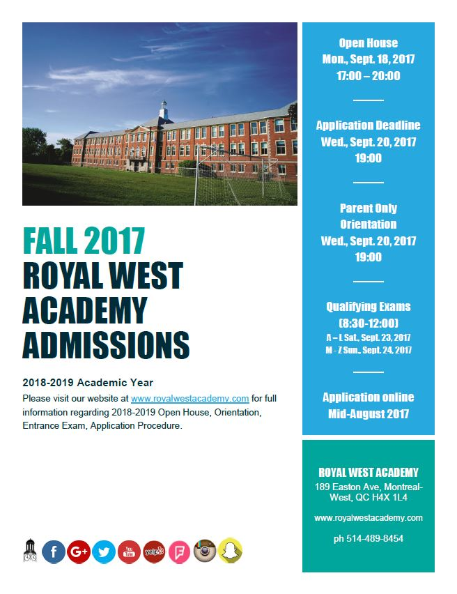 RWA Admissions Poster 2018-2019