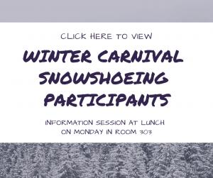 Snowshoeing List
